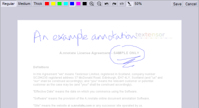 A nnotate freehand annotation component
